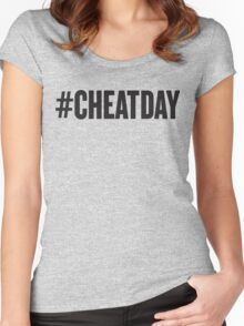 # CHEATDAY, Black Ink | Womens Fitness Racerback Tank Top, Crossfit Quotes Women's Fitted Scoop T-Shirt