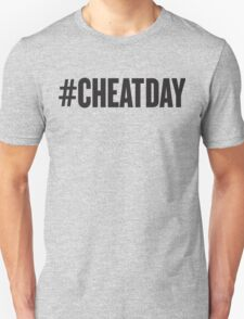 # CHEATDAY, Black Ink | Womens Fitness Racerback Tank Top, Crossfit Quotes Unisex T-Shirt