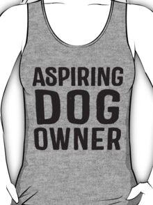 Aspiring Dog Owner, Black Ink | Women's Dog Lover Tank Top, T-Shirt