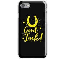 Good luck (horseshoe) iPhone Case/Skin