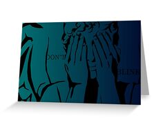 Doctor Who-Don't Blink Greeting Card