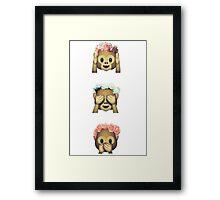Monkey Emoji Framed Print