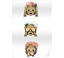 Monkey Emoji Poster