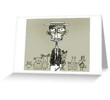 cartoonist Greeting Card