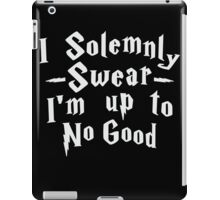 I Solemnly Swear I'm Up To No Good, White Ink | Women's Harry Potter Quote, Deathly Hallows iPad Case/Skin