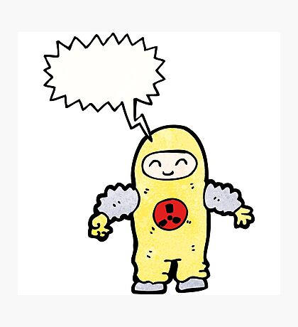 man in radiation proof suit Photographic Print