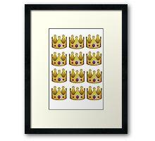 Emoji crown Framed Print