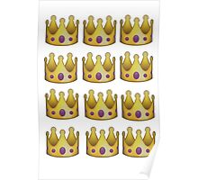 Emoji crown Poster