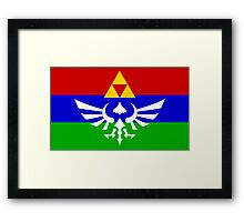 Hyrule Flag Framed Print