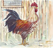 Solly's rooster all grown up by Maree  Clarkson