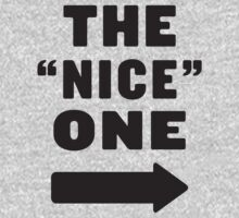 "The ""Nice"" One / The ""Mean"" One 1/2, Black Ink 