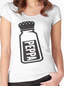 Salt \ Peppa 2/2, Black Ink   Women's Best Friends Shirts, Bff Stuff, Besties, Halloween Costume, Salt And Pepper Shakers Women's Fitted Scoop T-Shirt