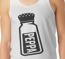Salt \ Peppa 2/2, Black Ink | Women's Best Friends Shirts, Bff Stuff, Besties, Halloween Costume, Salt And Pepper Shakers Tank Top
