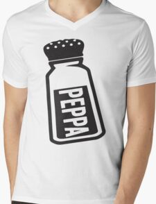 Salt \ Peppa 2/2, Black Ink | Women's Best Friends Shirts, Bff Stuff, Besties, Halloween Costume, Salt And Pepper Shakers Mens V-Neck T-Shirt