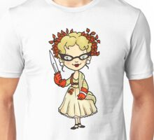 ITS A CLUE! Was it Mrs. Peacock with the KNIFE? Unisex T-Shirt