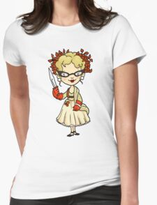 ITS A CLUE! Was it Mrs. Peacock with the KNIFE? Womens Fitted T-Shirt
