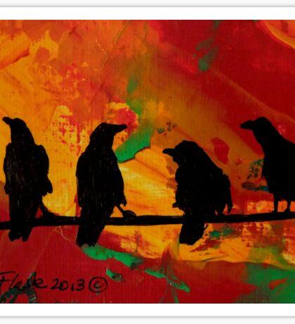 4 ravens Sticker