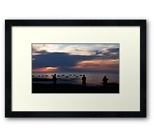 Sillouettes by the Seaside Framed Print