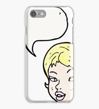 cartoon pretty blond girl iPhone Case/Skin