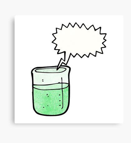 cartoon chemical beaker Canvas Print