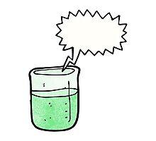 cartoon chemical beaker Photographic Print