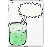 cartoon chemical beaker iPad Case/Skin