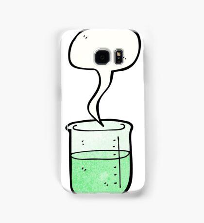 cartoon chemical beaker Samsung Galaxy Case/Skin