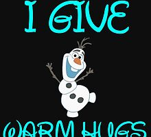 I GIVE WARM HUGS by Divertions