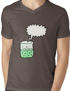 cartoon chemical beaker Mens V-Neck T-Shirt