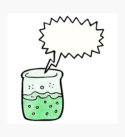 cartoon chemical beaker Photographic Print