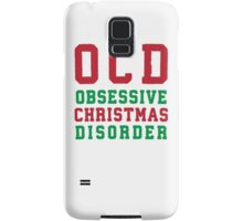 OCD Obsessive Christmas Disorder, Red and Green Ink | Women's Christmas Sweater, Ugly Christmas Sweater, Christmas Gift, Obsessive Compulsive Samsung Galaxy Case/Skin
