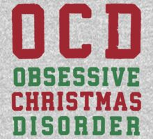 OCD Obsessive Christmas Disorder, Red and Green Ink | Women's Christmas Sweater, Ugly Christmas Sweater, Christmas Gift, Obsessive Compulsive by ABFTs