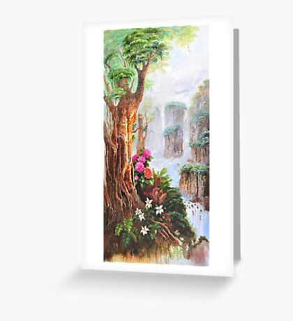 Chinese landscape painting Greeting Card