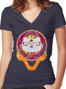 The Minds Tiger Women's Fitted V-Neck T-Shirt