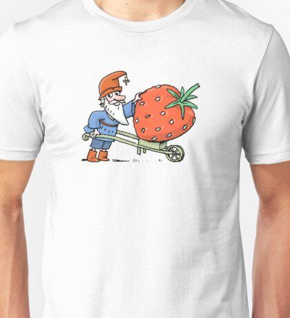 Gartenzwerg und Erdbeere Unisex T-Shirt
