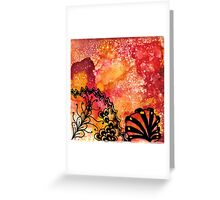 Orange Tangle Greeting Card