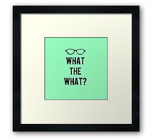 What the What? Framed Print