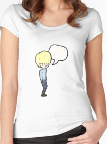 cartoon blond teenager Women's Fitted Scoop T-Shirt