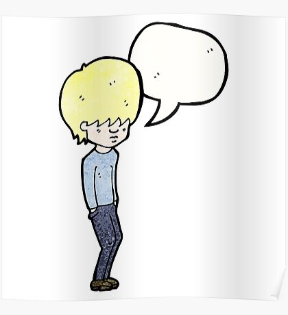 cartoon blond teenager Poster