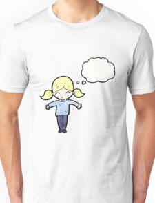 cartoon happy blond girl, Unisex T-Shirt