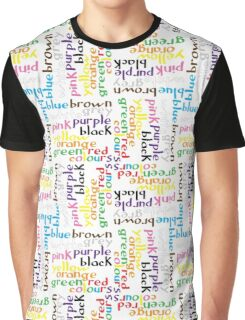 English colour words IV Graphic T-Shirt