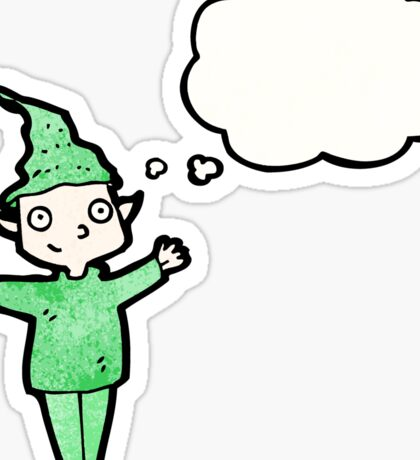 cartoon christmas elf Sticker