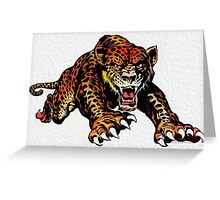 Wild Cat Greeting Card