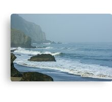 San Francisco Fog - China Beach Rolling Surf Canvas Print