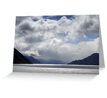 In the Hall of the Mountain King- The Road to Queenstown Greeting Card