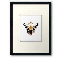 star emblem victory vector logo Framed Print