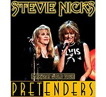 stevie nicks with pretenders 24 karat gold tour Photographic Print