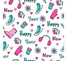 Happy New Year pattern Photographic Print