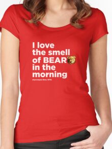 ROBUST Bear Apocalypse quote white Women's Fitted Scoop T-Shirt