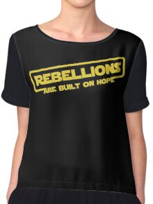 "Star Wars - ""Rebellions are built on hope!""  Chiffon Top"